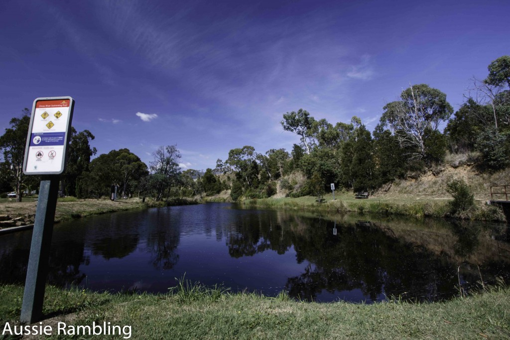 A swimming pool built in the Omeo River by volunteers.