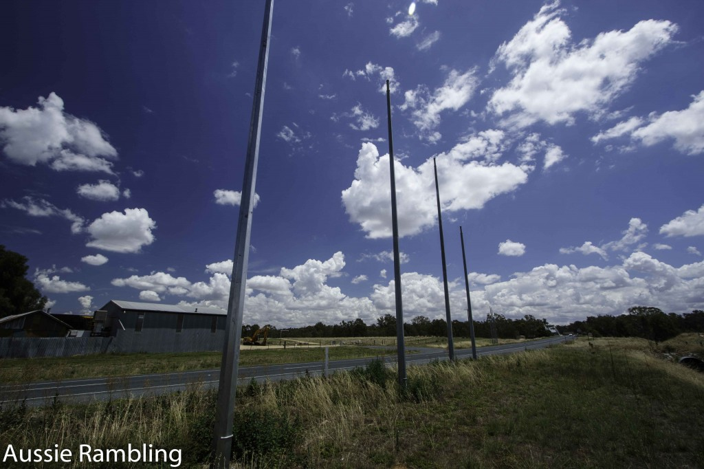 The Barassi Line was initially a joke and then turned into a monument, that stated where AFL finished and Rugby League and Union began. It is on Federation Way, just outside Wahgunyah VIC.
