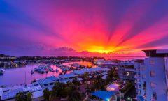 Sunset over Cullen Bay Marina, Darwin, Northern Territory.