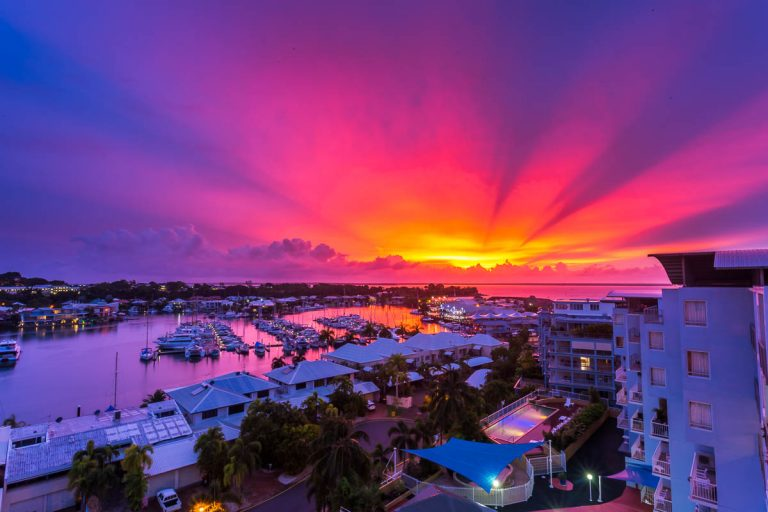 Sunset over Cullen Bay Marina, Darwin, Northern Territory.