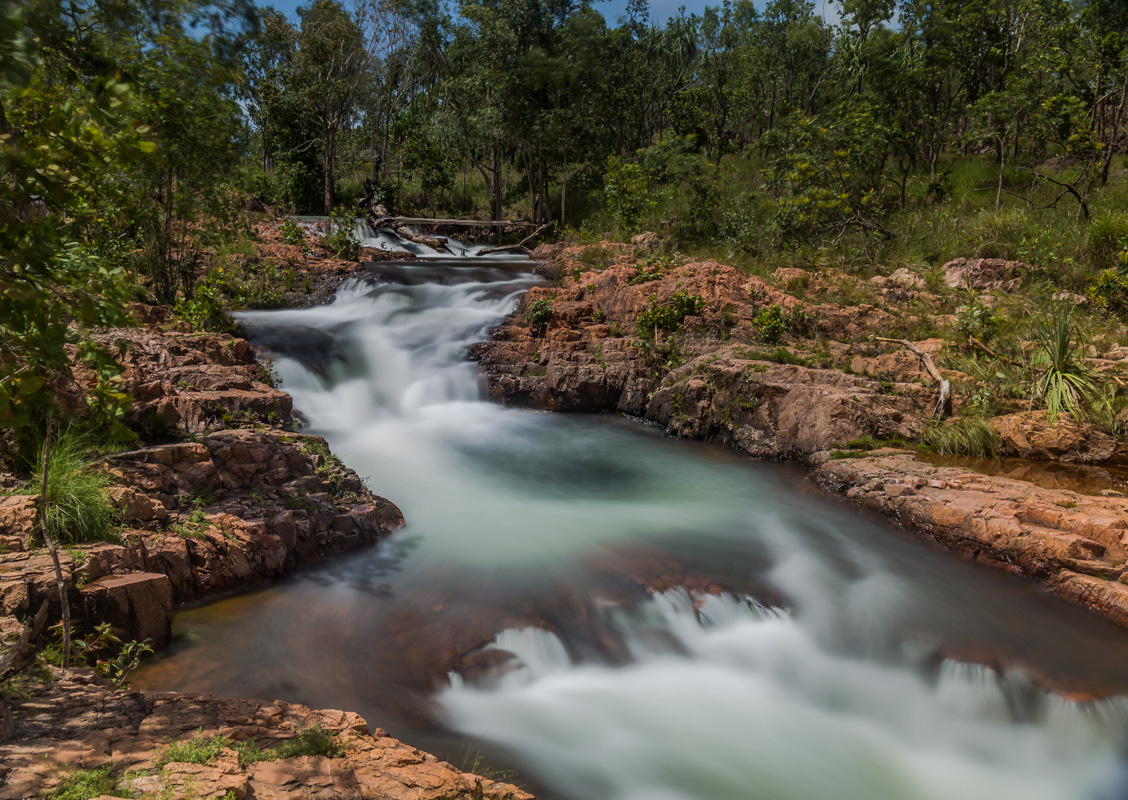 Upper Buley Rockhole is in full flow at Litchfield National Park, Northern Territory
