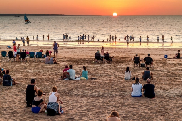 Mindil Beach Sunset Markets, Crowd, Lifestyle, Darwin, Australia, Northern Territory, Dry Season