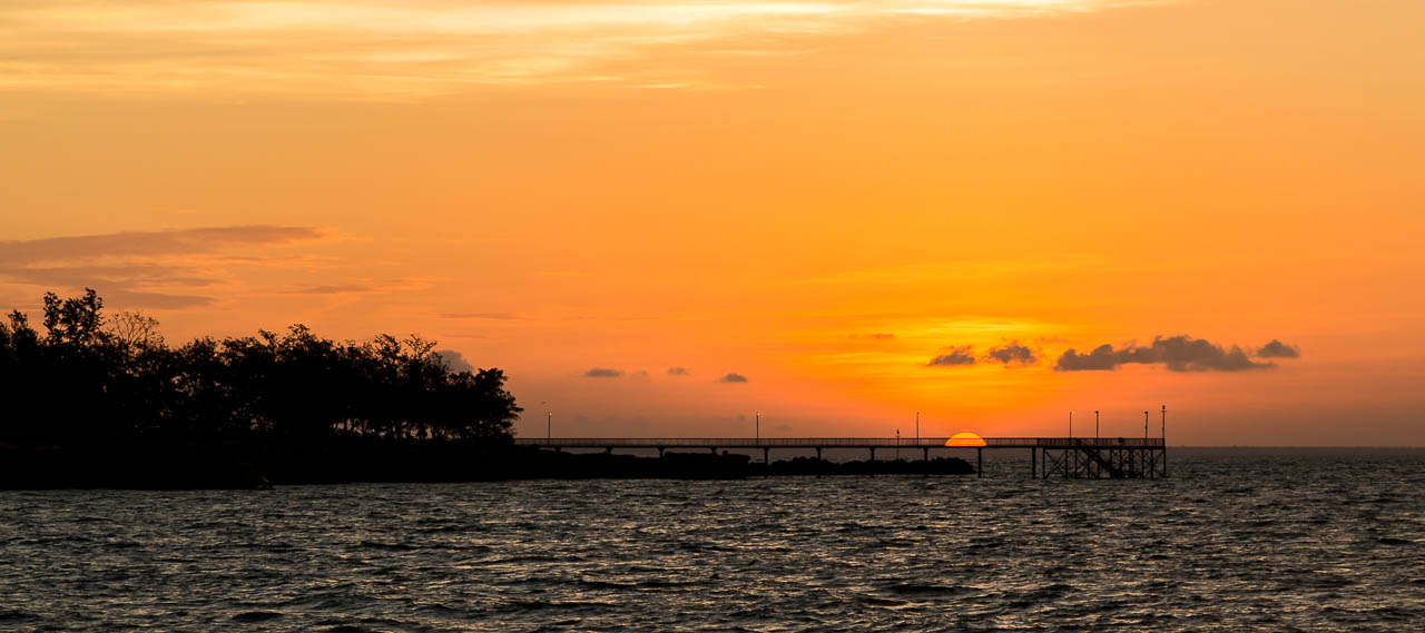 Sunset over Nightcliff Pier, Nightcliff, Darwin, Northern Territory.
