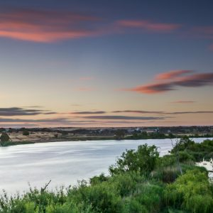 Looking down the Murray River from Murray Bridge