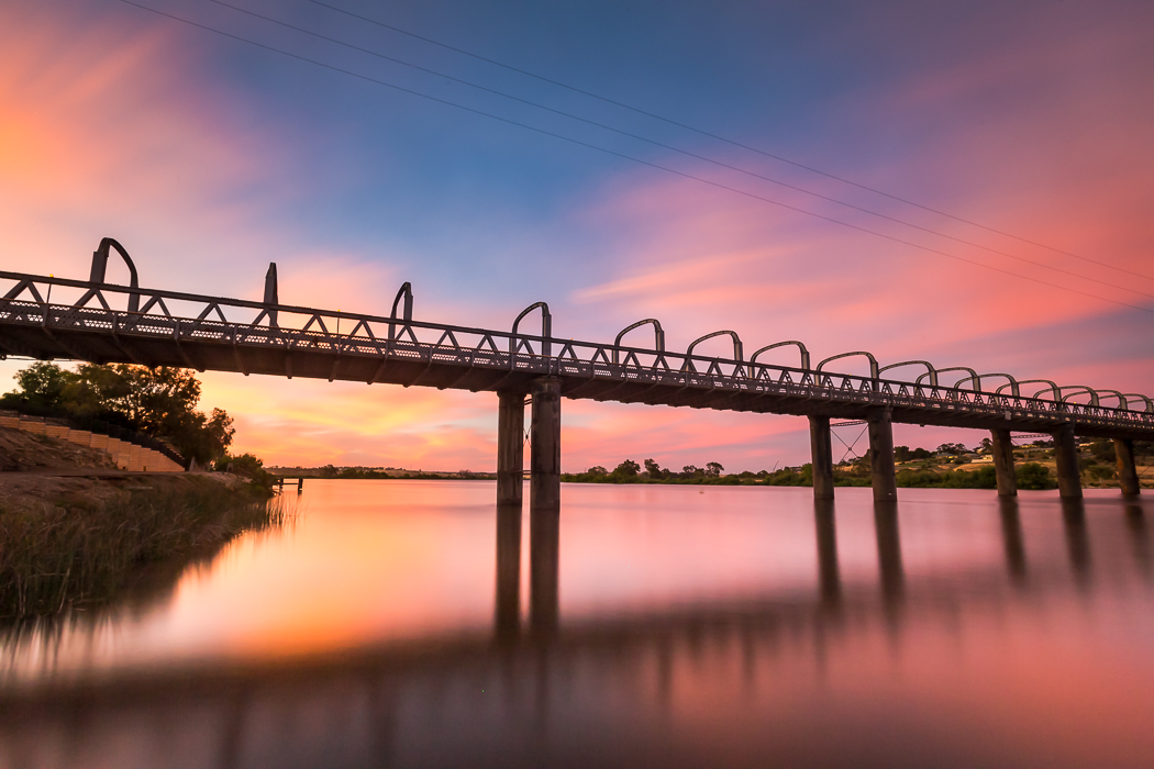 Murray Bridge Road Bridge Sunset over the Murray River